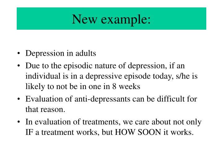 New example: