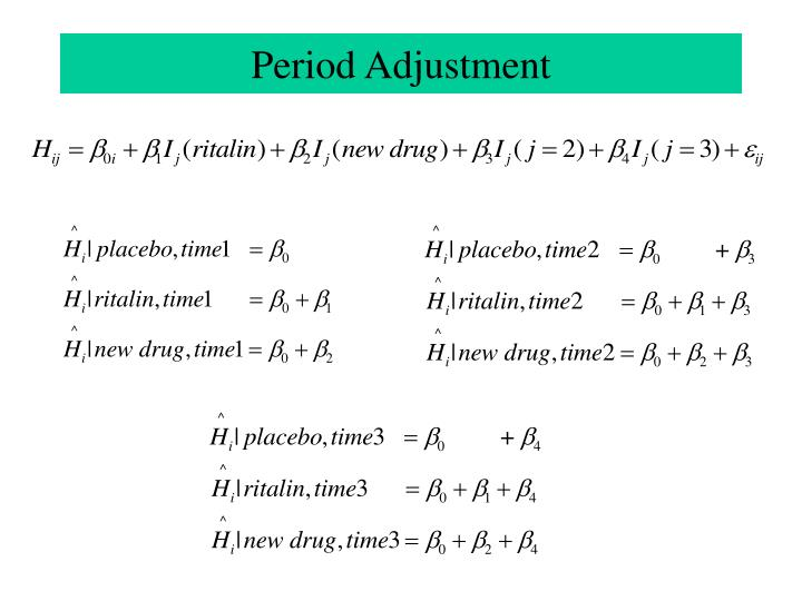 Period Adjustment