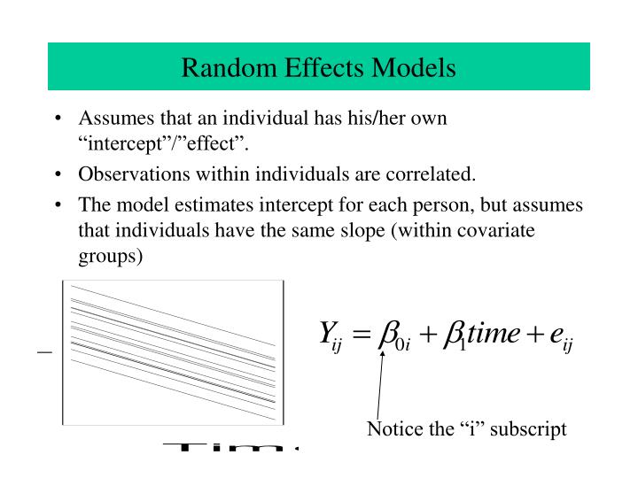 Random Effects Models