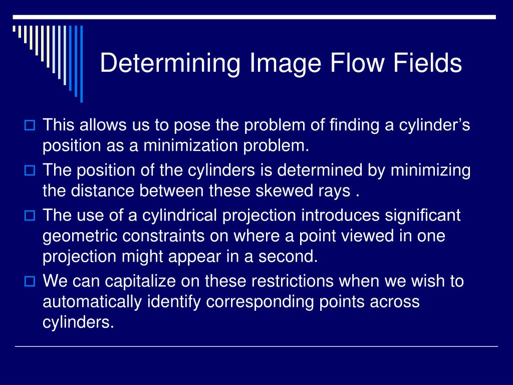 Determining Image Flow Fields