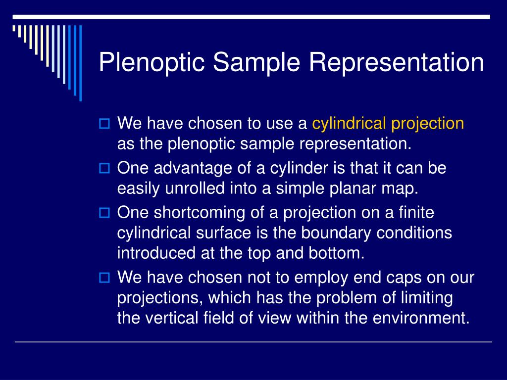 Plenoptic Sample Representation