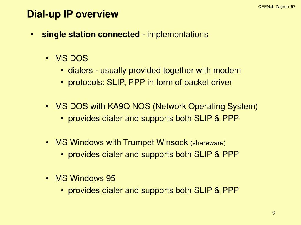 Dial-up IP overview