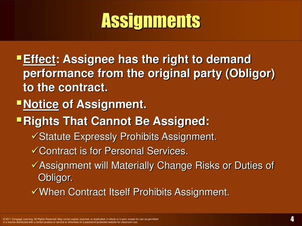 assignment of rights This is an intellectual property assignment document it is pretty favorable to the assignee remember to keep a receipt of the payment  (domain name rights.