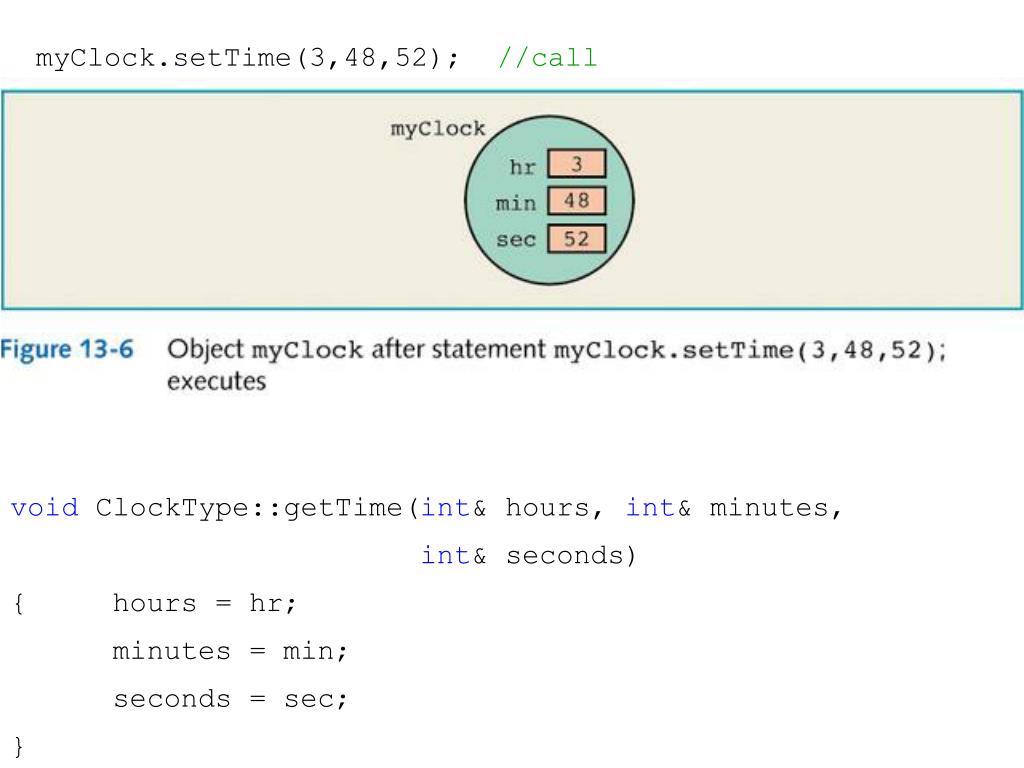 myClock.setTime(3,48,52);
