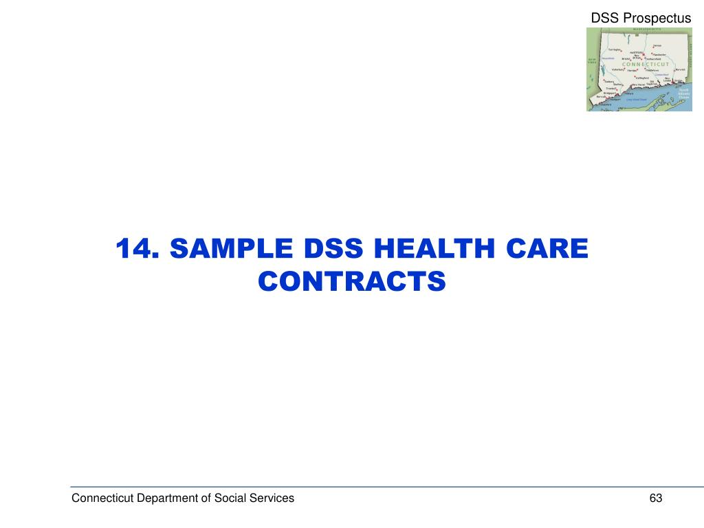 14. SAMPLE DSS HEALTH CARE CONTRACTS