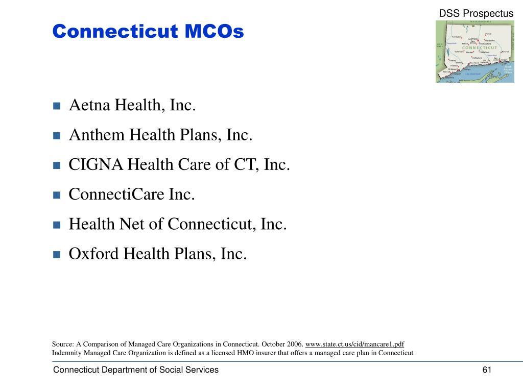 Connecticut MCOs