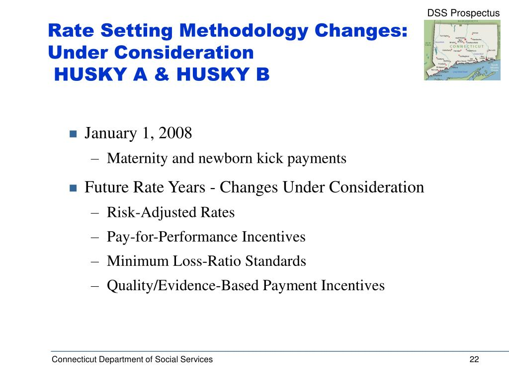 Rate Setting Methodology Changes: