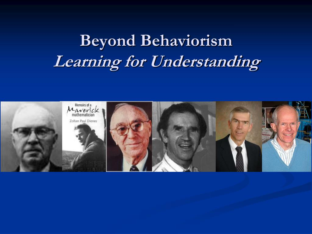 Beyond Behaviorism