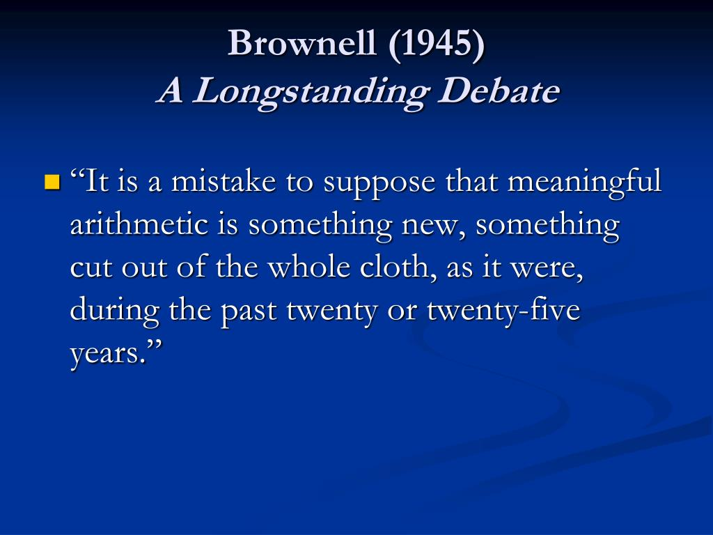 Brownell (1945)