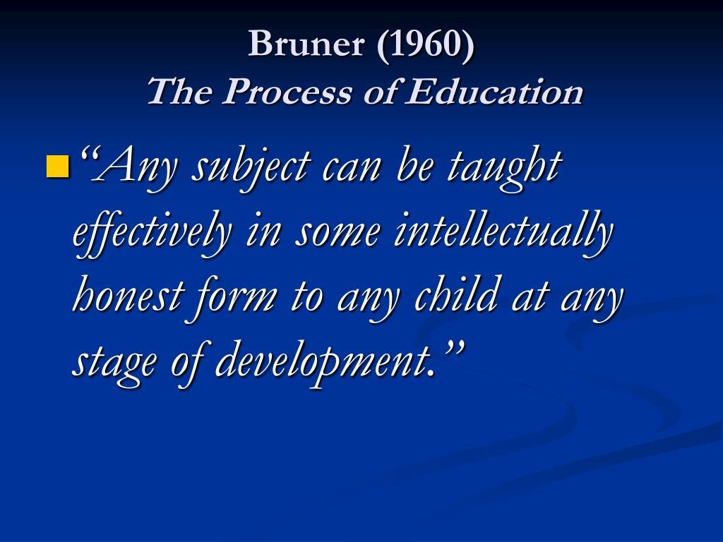 Bruner (1960)