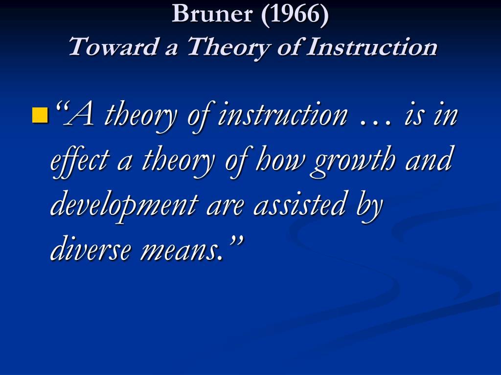 Bruner (1966)
