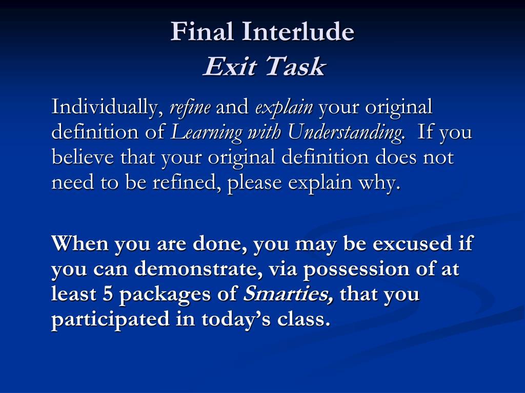 Final Interlude