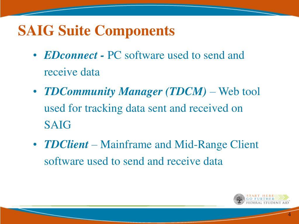 SAIG Suite Components