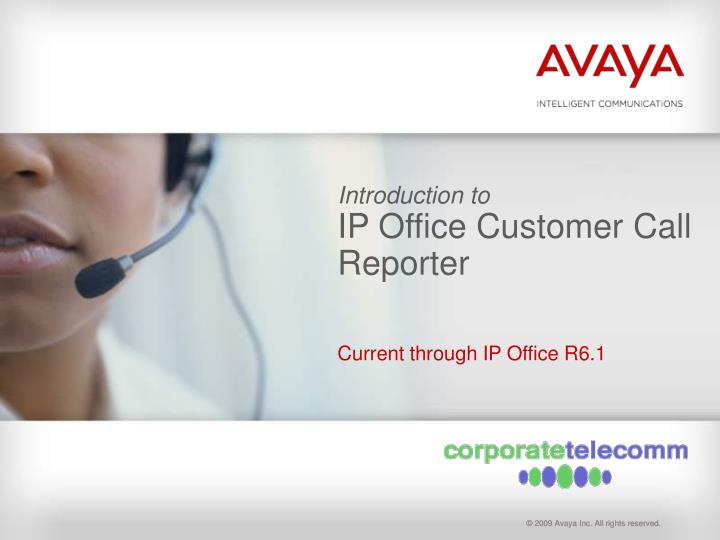 Introduction to ip office customer call reporter
