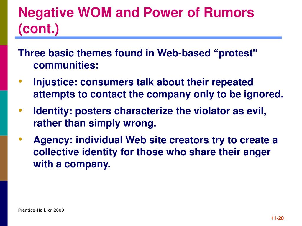 Negative WOM and Power of Rumors (cont.)