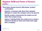 negative wom and power of rumors cont