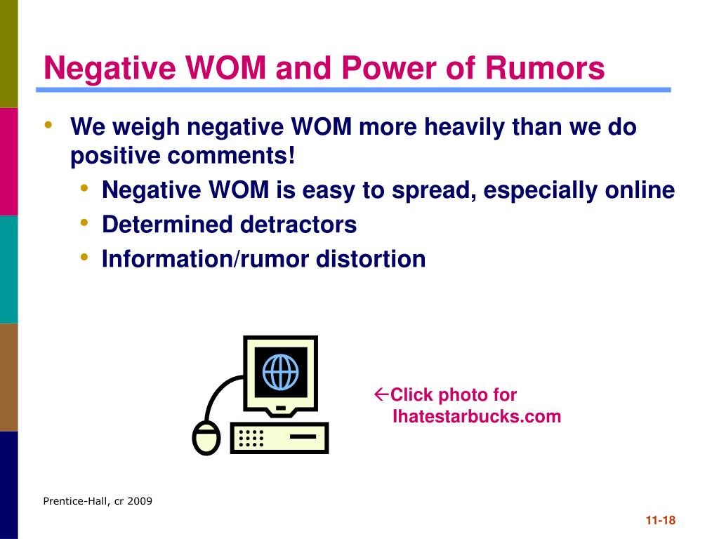 Negative WOM and Power of Rumors