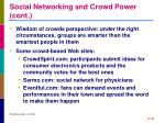 social networking and crowd power cont