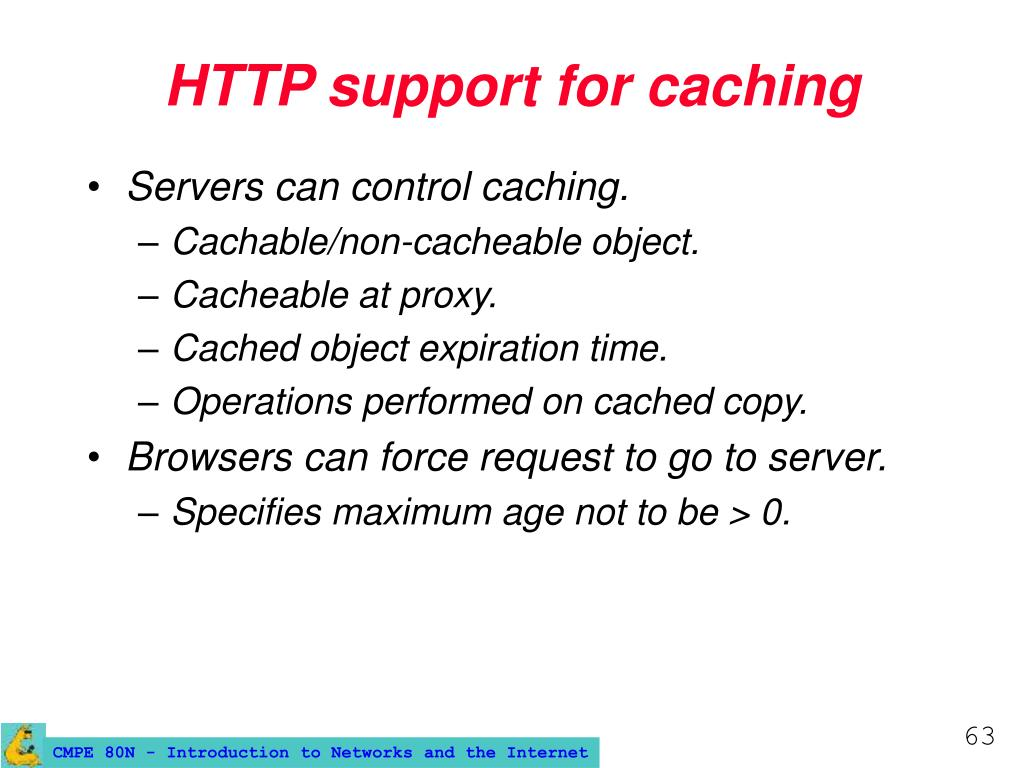 HTTP support for caching