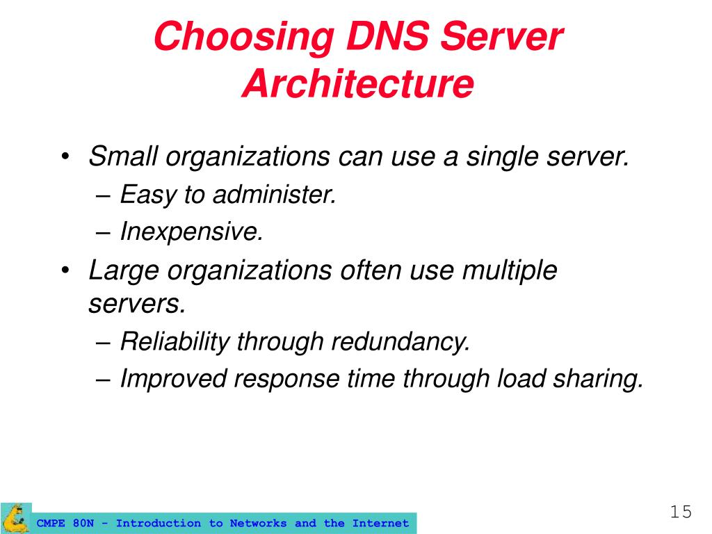 Choosing DNS Server Architecture
