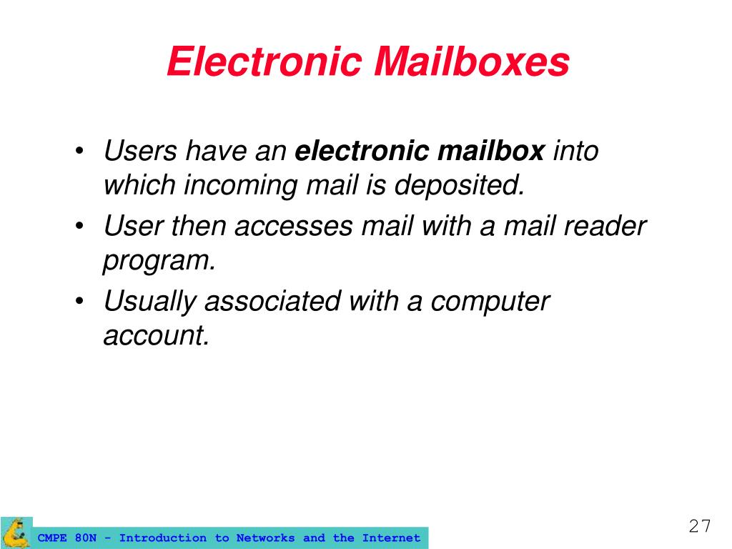 Electronic Mailboxes
