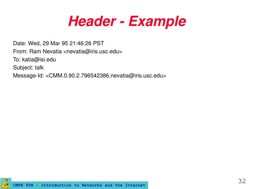 Header - Example