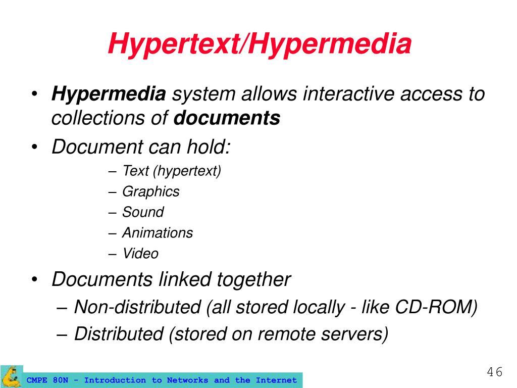 Hypertext/Hypermedia
