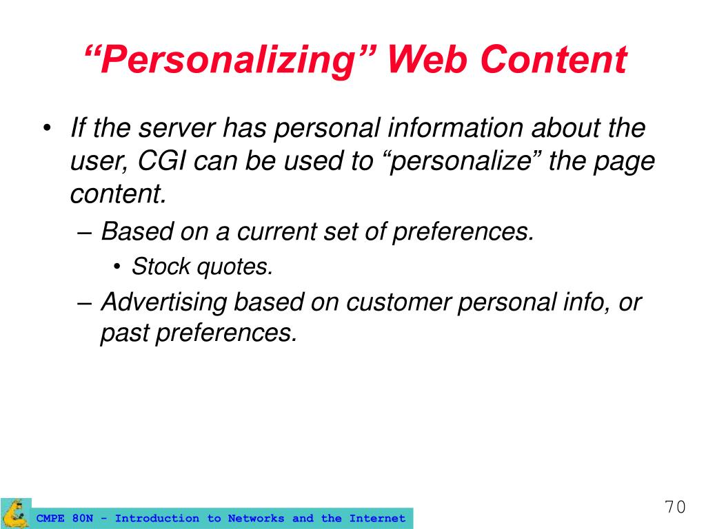 """Personalizing"" Web Content"