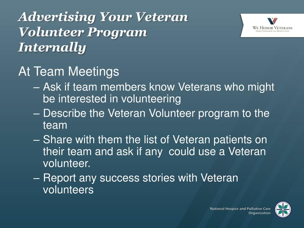 Advertising Your Veteran Volunteer Program Internally