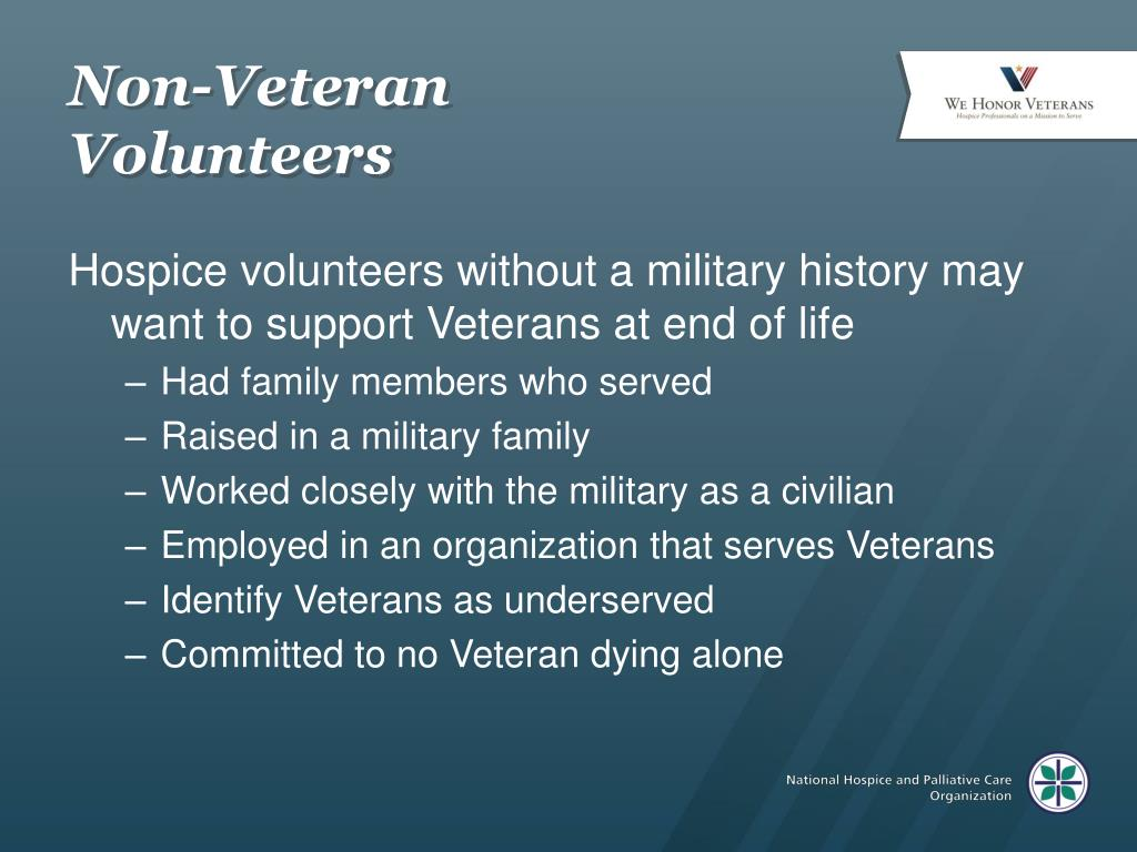 Non-Veteran Volunteers
