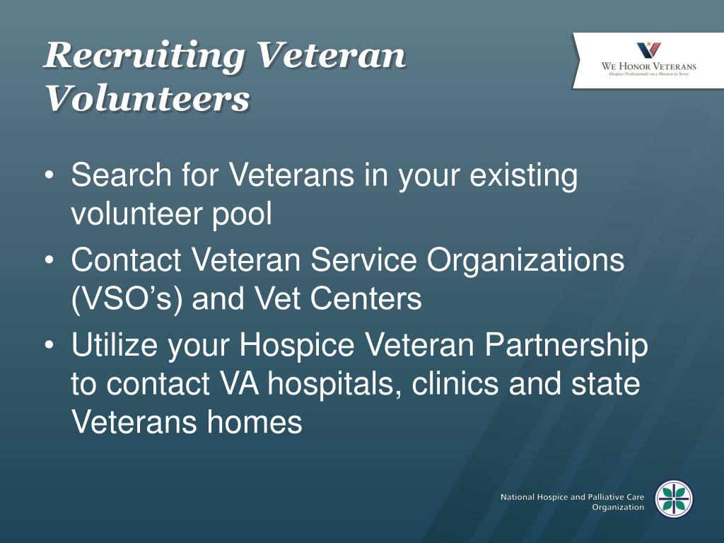 Recruiting Veteran Volunteers