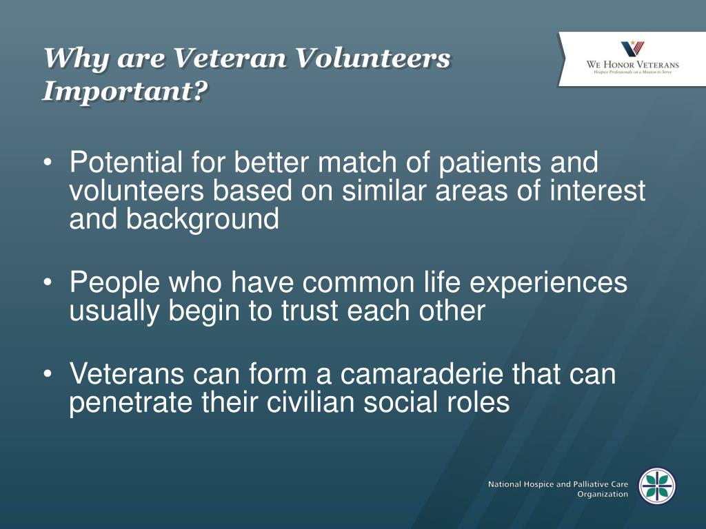Why are Veteran Volunteers Important?