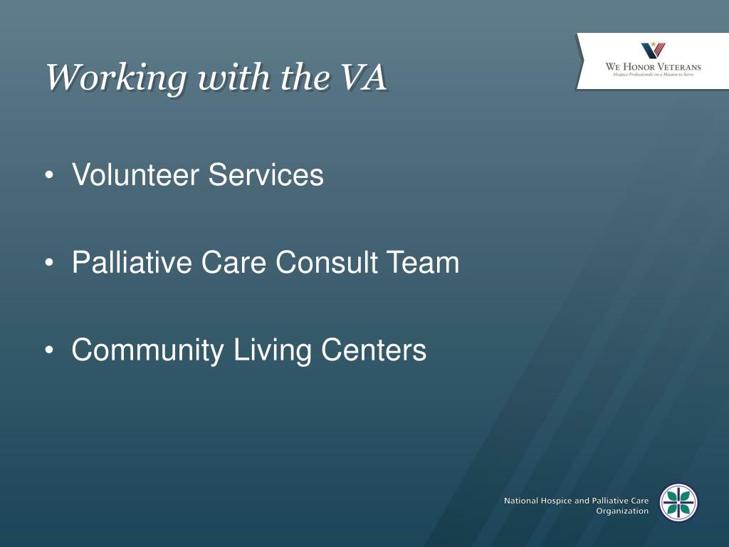 Working with the VA