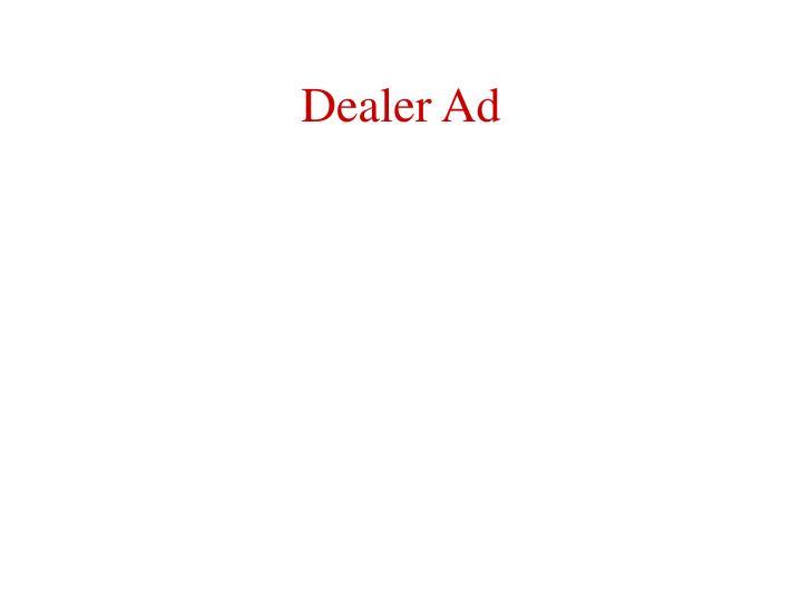 Dealer Ad