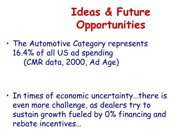 Ideas & Future Opportunities