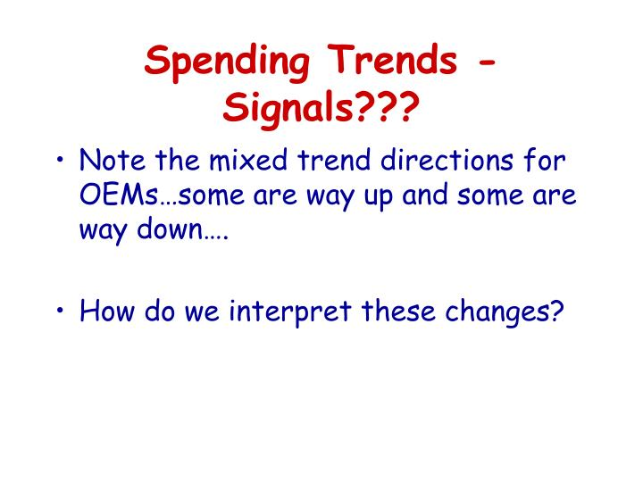 Spending Trends - Signals???