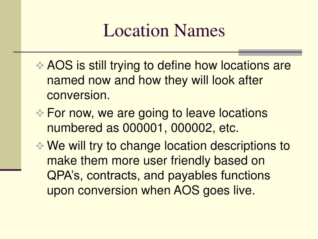Location Names