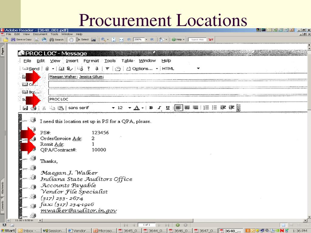 Procurement Locations