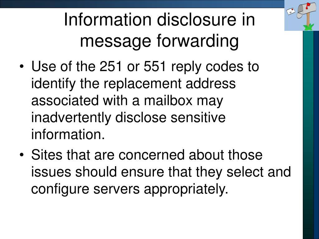 Information disclosure in