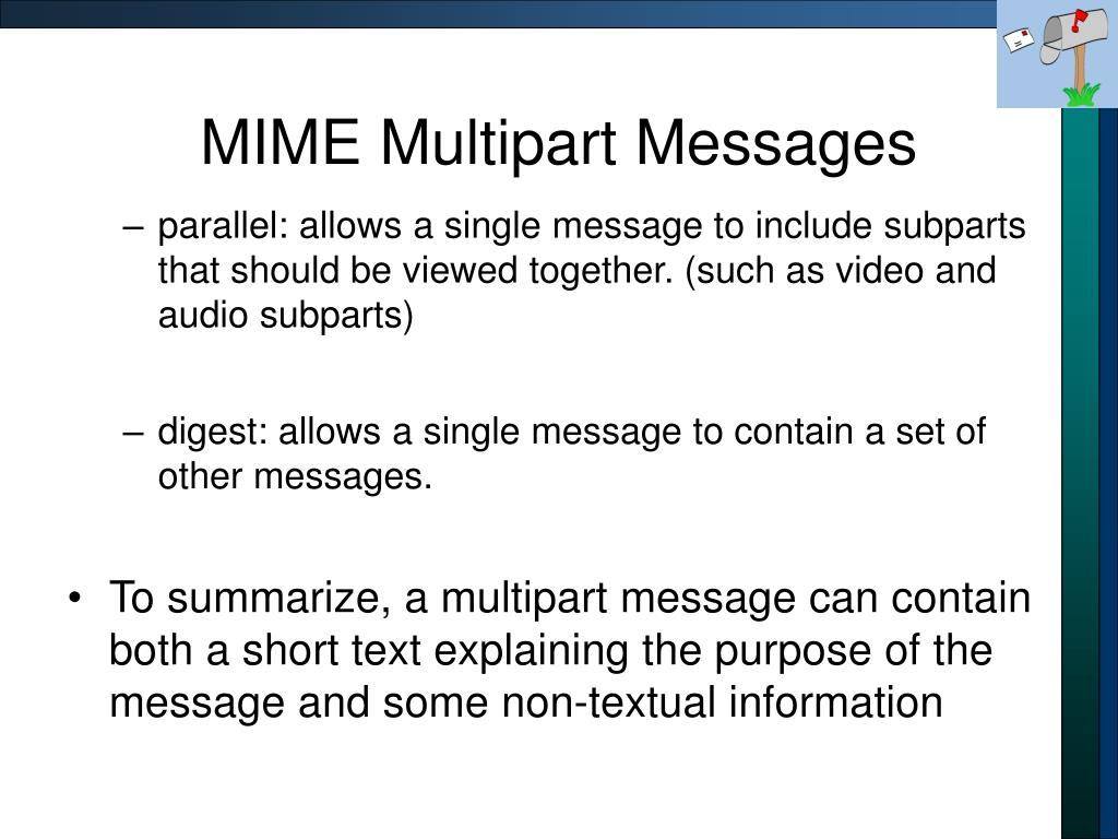 MIME Multipart Messages
