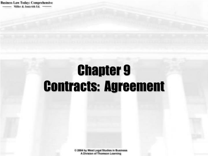 Chapter 9 contracts agreement
