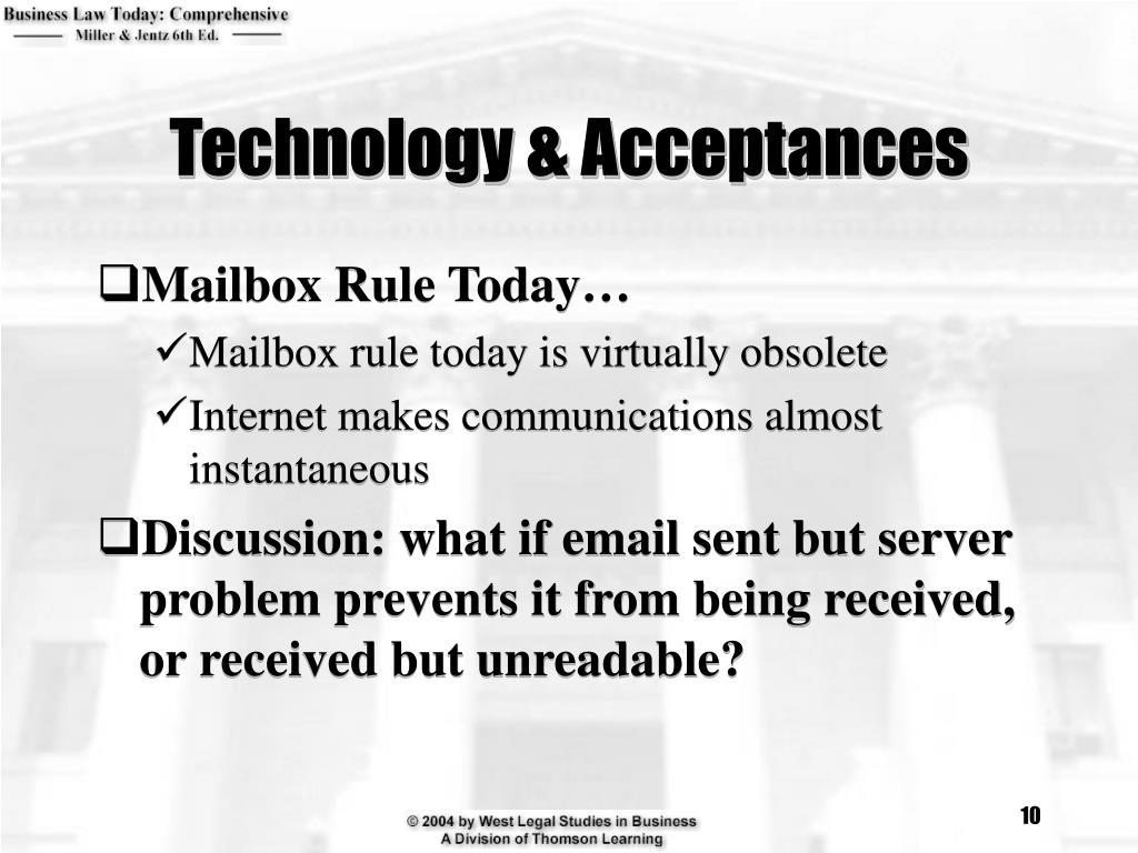 Technology & Acceptances