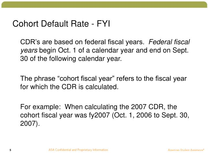 Cohort Default Rate - FYI