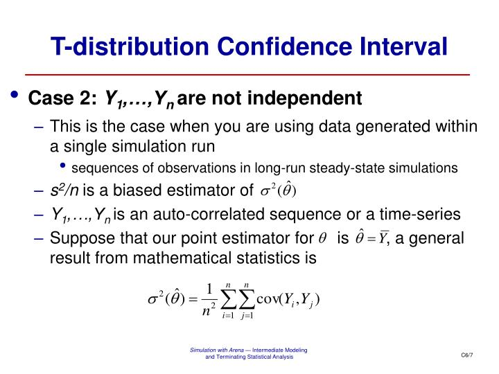 T-distribution Confidence Interval