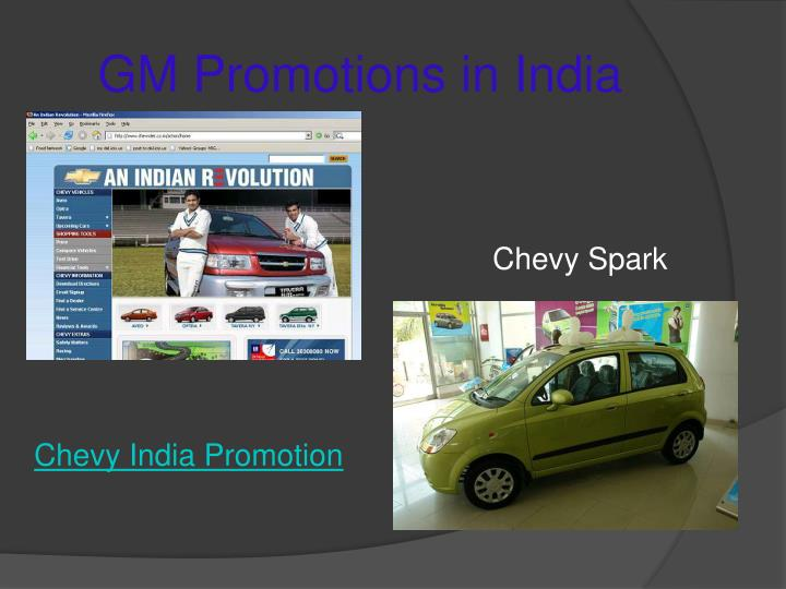 GM Promotions in India