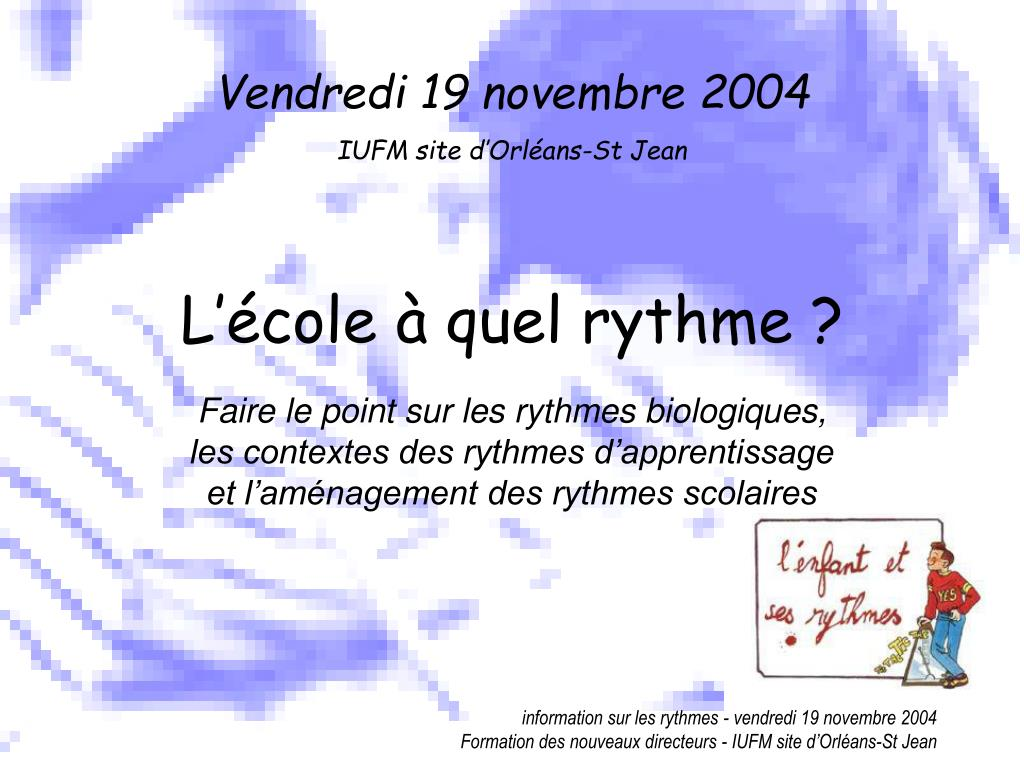 Vendredi 19 novembre 2004