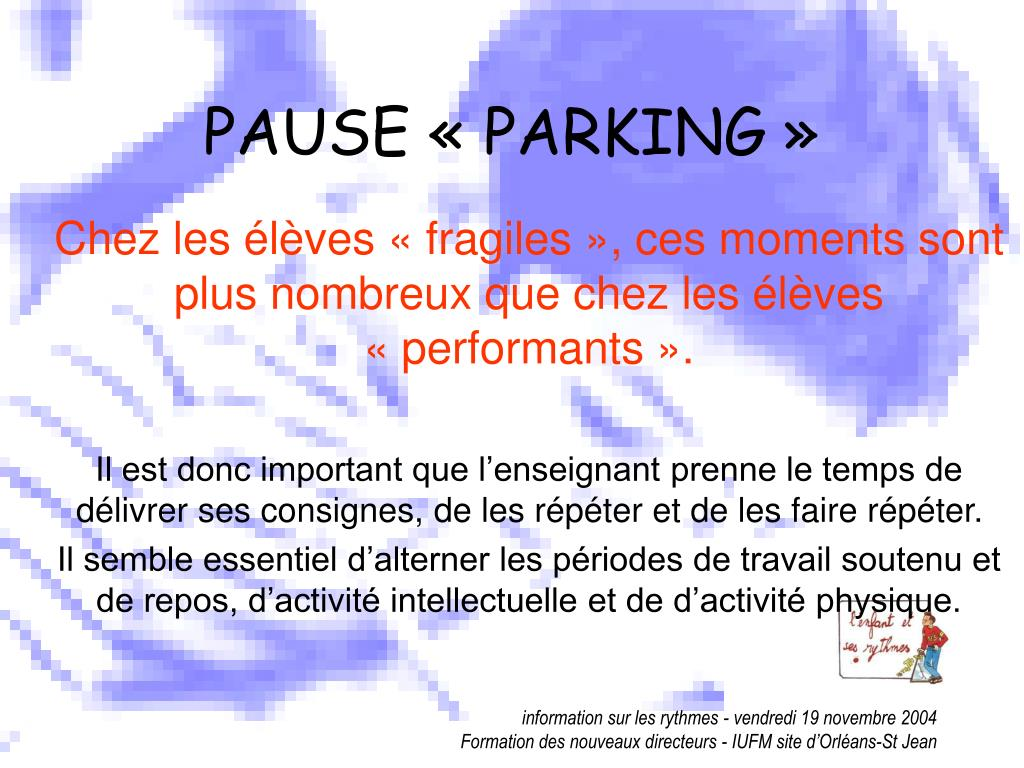 PAUSE « PARKING »