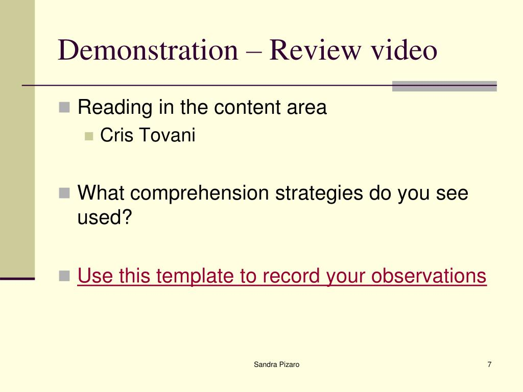 Demonstration – Review video