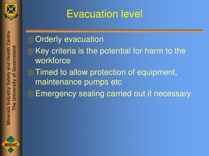 Evacuation level