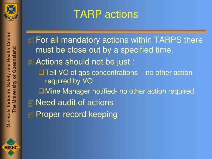 TARP actions